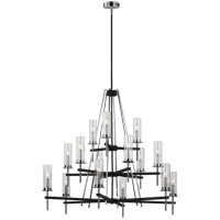 Feiss F3228/15TXB/CH Broderick 46 inch Textured Black Chandelier Ceiling Light