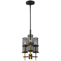 Feiss F3234/3ORB/BBS Palmyra 11 inch Oiled Rubbed Bronze and Burnished Brass Chandelier Ceiling Light
