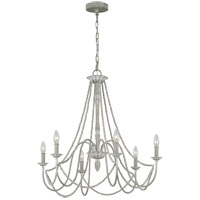 Feiss F3240/6WGR Maryville 28 inch Washed Grey Chandelier Ceiling Light