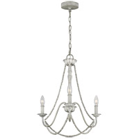 Feiss F3242/3WGR Maryville 19 inch Washed Grey Chandelier Ceiling Light