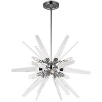Feiss F3257/6CH Thorne 26 inch Chrome Chandelier Ceiling Light