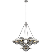 Feiss F3260/7PN Harper 32 inch Polished Nickel Chandelier Ceiling Light