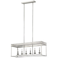 Feiss F3278/6PN Woodruff 13 inch Polished Nickel Chandelier Ceiling Light
