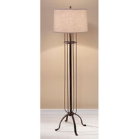 Feiss Shaw 1 Light Floor Lamp in Dark Rustic Iron FL6309DRI