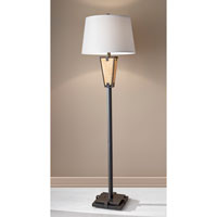 Feiss Modern Prairie 1 Light Floor Lamp in Century Iron and Onyx FL6318CNI/OX
