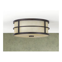 Feiss FM256GBZ Fusion 2 Light 12 inch Grecian Bronze Flush Mount Ceiling Light alternative photo thumbnail