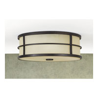 Feiss Fusion 3 Light Flush Mount in Grecian Bronze FM257GBZ