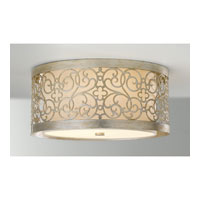Feiss FM339SLP Arabesque 2 Light 15 inch Silver Leaf Patina Flush Mount Ceiling Light in Standard alternative photo thumbnail