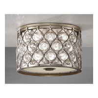 Feiss Lucia 2 Light Flush Mount in Burnished Silver FM355BUS alternative photo thumbnail
