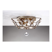 Feiss Leila 2 Light Flush Mount in Burnished Silver FM374BUS