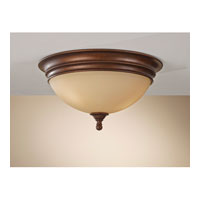 Feiss Yorktown Heights 3 Light Flush Mount in Prescott Bronze FM375PRBZ