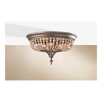 Feiss Maarid 3 Light Flush Mount in Rustic Iron FM376RI