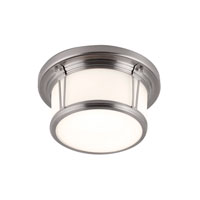 Feiss FM387BS Woodward 2 Light 11 inch Brushed Steel Flush Mount Ceiling Light alternative photo thumbnail