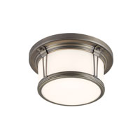 Feiss Woodward 2 Light Flushmount in Satin Bronze FM387SBZ