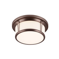 Feiss Woodward 2 Light Flushmount in Chocolate FM388CLT