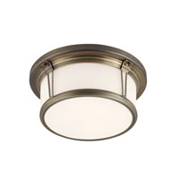 Woodward LED 13 inch Satin Bronze Flush Mount Ceiling Light in Integrated LED