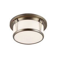 Feiss Woodward 3 Light Flushmount in Satin Bronze FM389SBZ