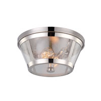 Feiss Harrow 2 Light Flushmount in Polished Nickel FM393PN