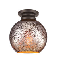 Feiss Tabby 1 Light Flushmount in Oil Rubbed Bronze FM407ORB