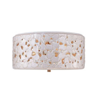 Feiss Azalia 3 Light Flushmount in White Taupe Ceramic and Beach Wood FM410WTPC/BD