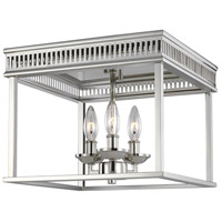 Feiss FM521PN Woodruff 13 inch Polished Nickel Flush Mount Ceiling Light