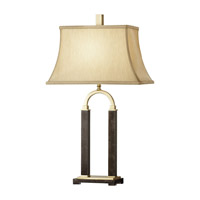Feiss Isadora 1 Light Table Lamp in Dark Coffee Bronze and Brown Marble 10033DCB/BML