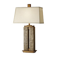 Feiss Justice 1 Light Table Lamp in Crackled Cream 10044CCM photo thumbnail