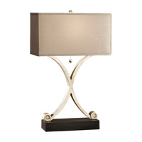 Feiss Amaya 1 Light Table Lamp in Ebonized Silver Leaf and Black 10076ESL/BK photo thumbnail