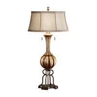 Feiss Amaya 2 Light Table Lamp in Antique Silver Leaf and British Bronze 10077ASL/BRB