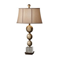 Feiss Davidson 1 Light Table Lamp in Antique Copper and Silver Leaf Patina 10141ABZ/SLP photo thumbnail