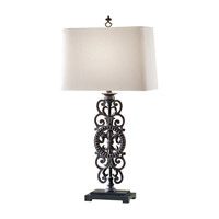 Feiss Garden Relic 1 Light Table Lamp in Aged Iron 10144AI