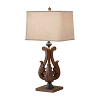 Feiss Fleuron 1 Light Table Lamp in Dark Aged Wood 10145DAW photo thumbnail