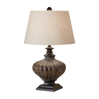 Feiss Antica Ceramica 1 Light Table Lamp in Antique Black 10147AK photo thumbnail