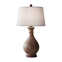 Feiss Antica Ceramica 1 Light Table Lamp in Dappled Ivory 10154DIV photo thumbnail
