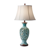 Feiss Antica Ceramica 1 Light Table Lamp in Persian Turquoise 10156PER photo thumbnail