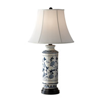 Feiss Canyon Creek 1 Light Table Lamp in Blue and White 10158BL/WT photo thumbnail