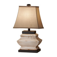 Feiss Antica Ceramica 1 Light Table Lamp in Ivory Crackle 10159IC photo thumbnail