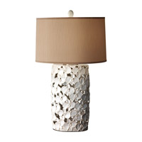 Feiss Garden Relic 1 Light Table Lamp in White and Taupe 10161WT/TP photo thumbnail