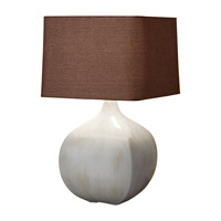 Feiss Ceramica 1 Light Table Lamp in Ivory Crackle 10164IC photo thumbnail