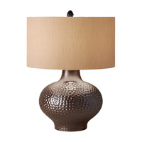 Feiss Ceramica 1 Light Table Lamp in Iridescent Bronze 10165IB