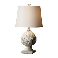 Feiss Garden Relic 1 Light Table Lamp in White Wash and Grey 10166WWH/GY
