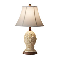 Feiss Garden Relic 1 Light Table Lamp in Antique White Crackle 10167AWC photo thumbnail