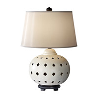 Feiss Ceramica 1 Light Table Lamp in Ivory 10176IV photo thumbnail