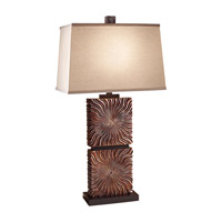 Feiss Abbeyville 1 Light Table Lamp in Woodland Brown 10180WDB photo thumbnail