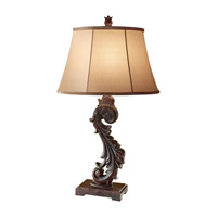 Feiss Heathcote 1 Light Table Lamp in Dark Roast 10182DRR photo thumbnail