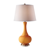 Feiss Kennedy 1 Light Table Lamp in Melon and Brushed Steel 10183MLN/BS