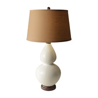 Feiss Seely 1 Light Table Lamp in White Ceramic and Oil Rubbed Bronze 10184WC/ORB photo thumbnail