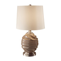 Feiss Softserve 1 Light Table Lamp in Toffee and Brushed Steel 10188TF/BS photo thumbnail