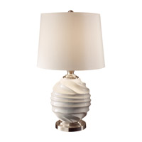 Feiss Softserve 1 Light Table Lamp in Vanilla and Brushed Steel 10188VNL/BS photo thumbnail