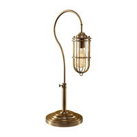 Feiss Urban Renewal 1 Light Table Lamp in Dark Antique Brass 10195DAB photo thumbnail